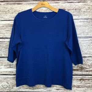 CJ Banks Royal Blue T-shirt 2X